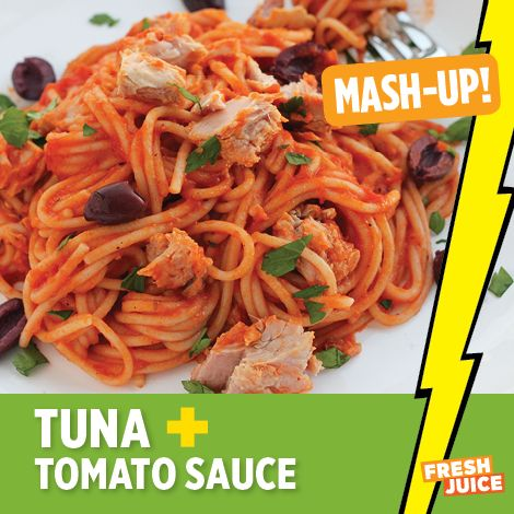 Pasta With Tuna And Tomato Sauce Recipe — Dishmaps