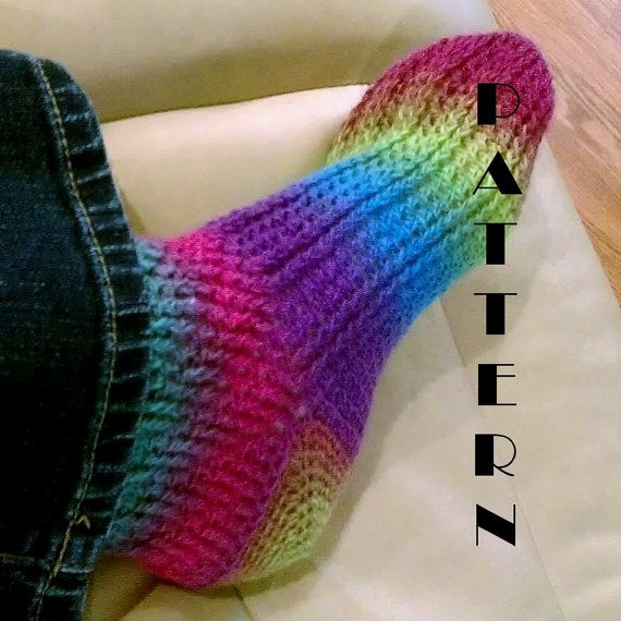 Crochet Sock Pattern : Ladies Crochet Sock Pattern 518 INSTANT DOWNLOAD on Etsy, $4.99