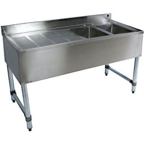 Plastic Utility Sink With Drainboard : ... sink bowls and stamped drain board.. Durable stainless bar sinks bring