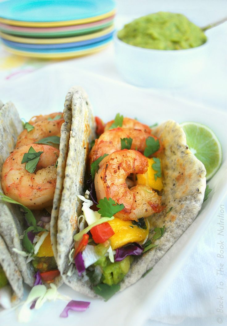 Shrimp Tacos with Mango, Cilantro & Lime (with Gluten & Grain Free op...