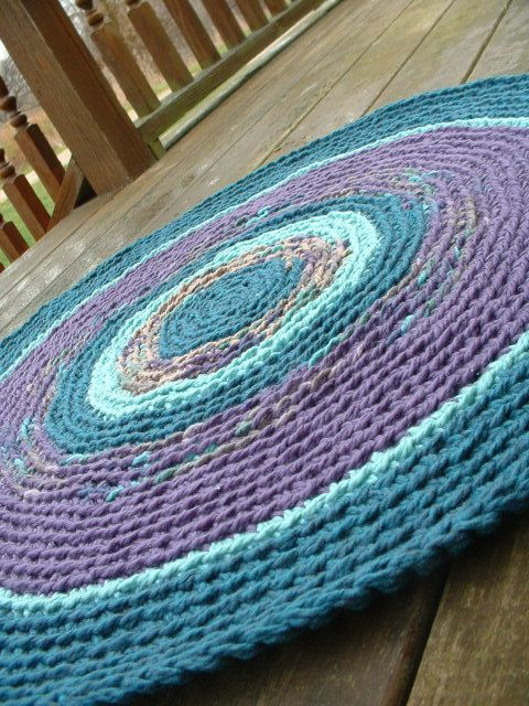 Crochet rug crochet and knitting Pinterest