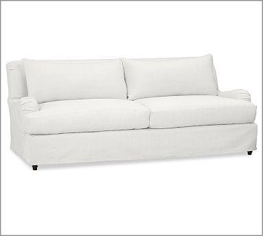 Slipcovered Sofa White For The Home Pinterest