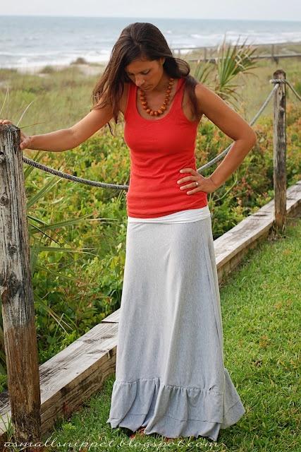 ruffle knit skirt