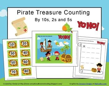 Pirate Treasure Counting 10s,2s,5s