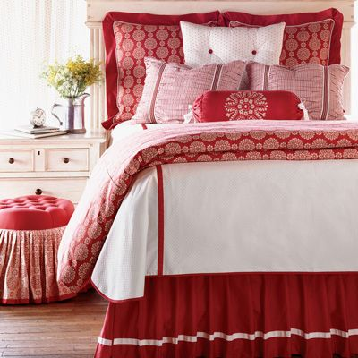 Bedroom ~ red and white