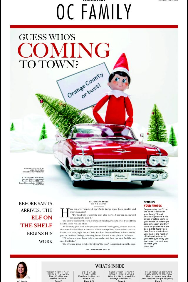 Of the orange county register newspaper layout elfontheshelf