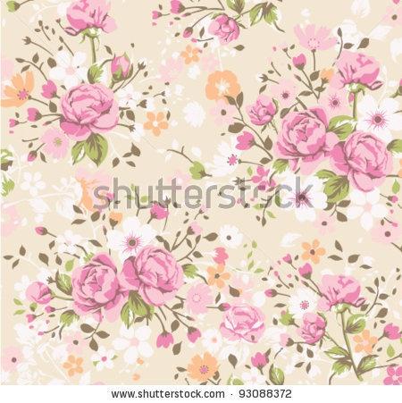 vintage rose pattern.