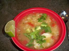 Chicken, Green Chili and Lime Soup | Favorite Recipes | Pinterest