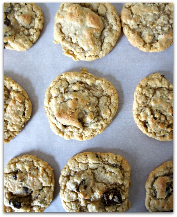 oatmeal chocolate chip cookies...these are sooooo yummy and the dough ...