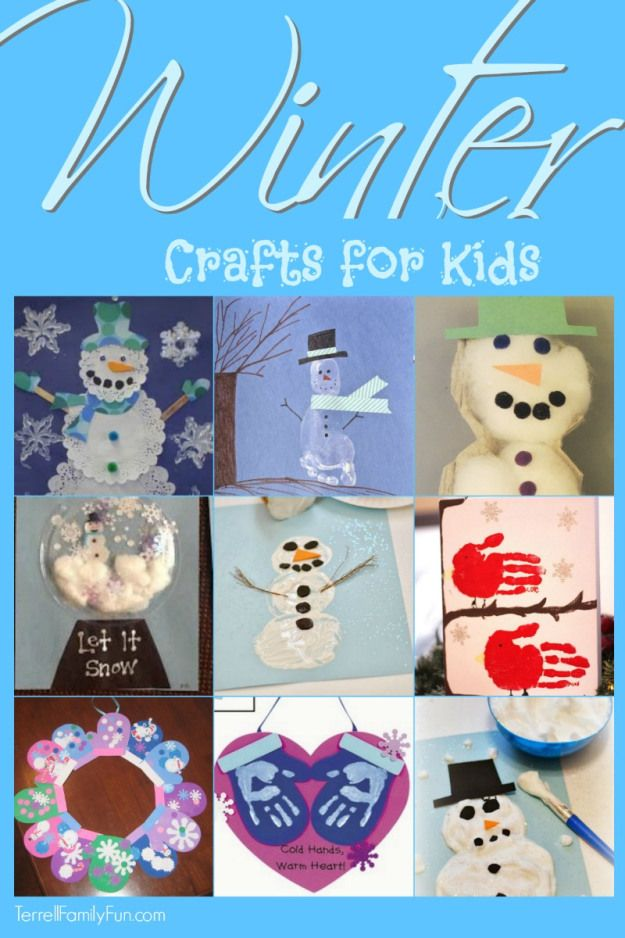 Winter crafts for kids by terrell family fun crafts