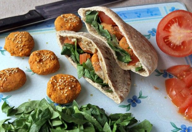 Baked Sweet Potato Falafel | Herbivore | Pinterest