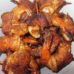 Bacon Wrapped Barbeque Shrimp Allrecipes.com