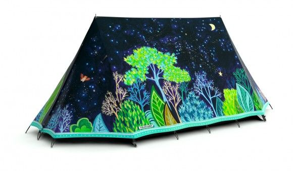 love this! -- 10,000,000 fireflies tent by Emma Atkinson.