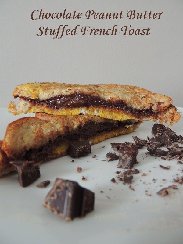 Chocolate Peanut Butter Stuffed French Toast