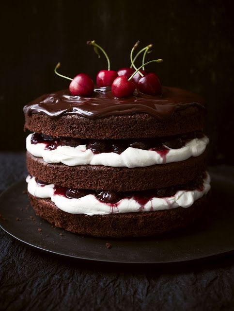 Шоколадный торт с вишней рецепт с фото в мультиварке