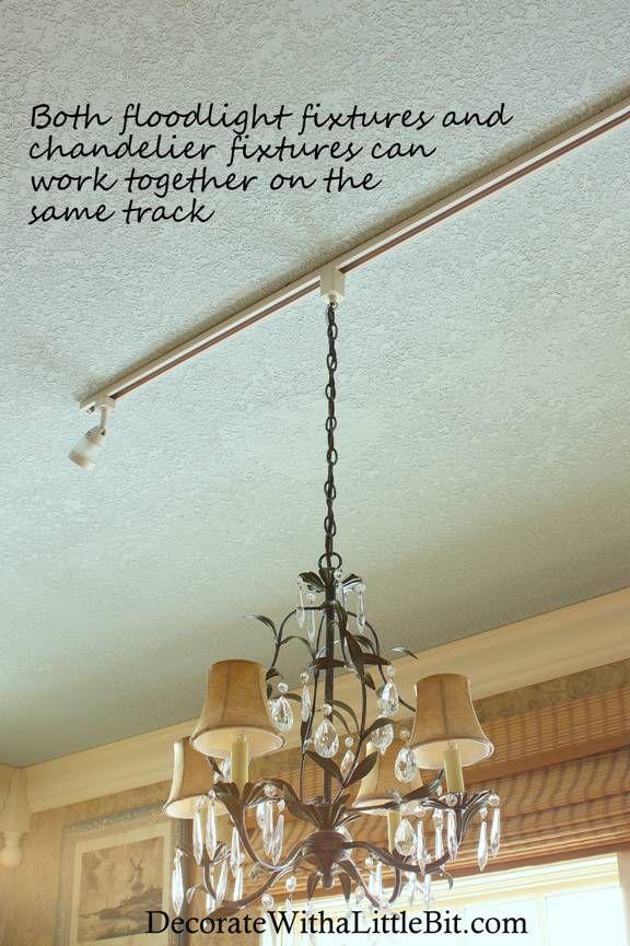 Juno Track Lighting Chandelier hanging from track lighting fixture with ...