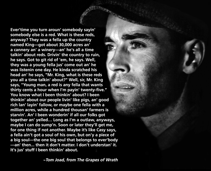 Grapes of wrath quotes