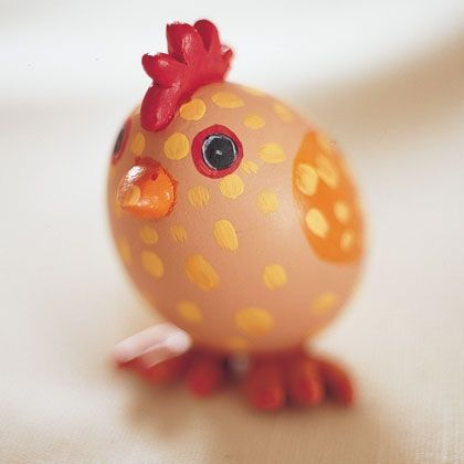 Easter Craft: Easter Egg Chicks (Easter Egg Decorating)  http://spoonful.com/crafts/easter-egg-chicks#