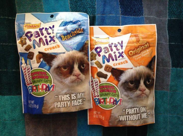 Friskies Party Mix Grumpy Cat Treats 2 Bags