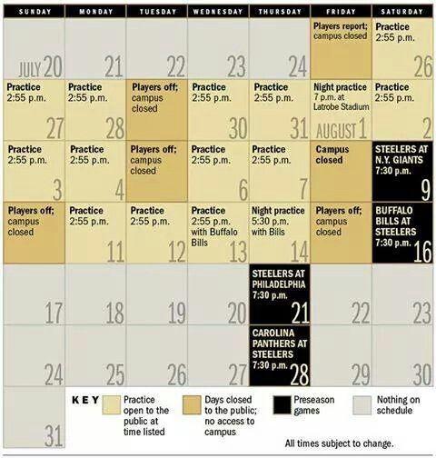 Pittsburgh Steelers 2013-2014 Schedule