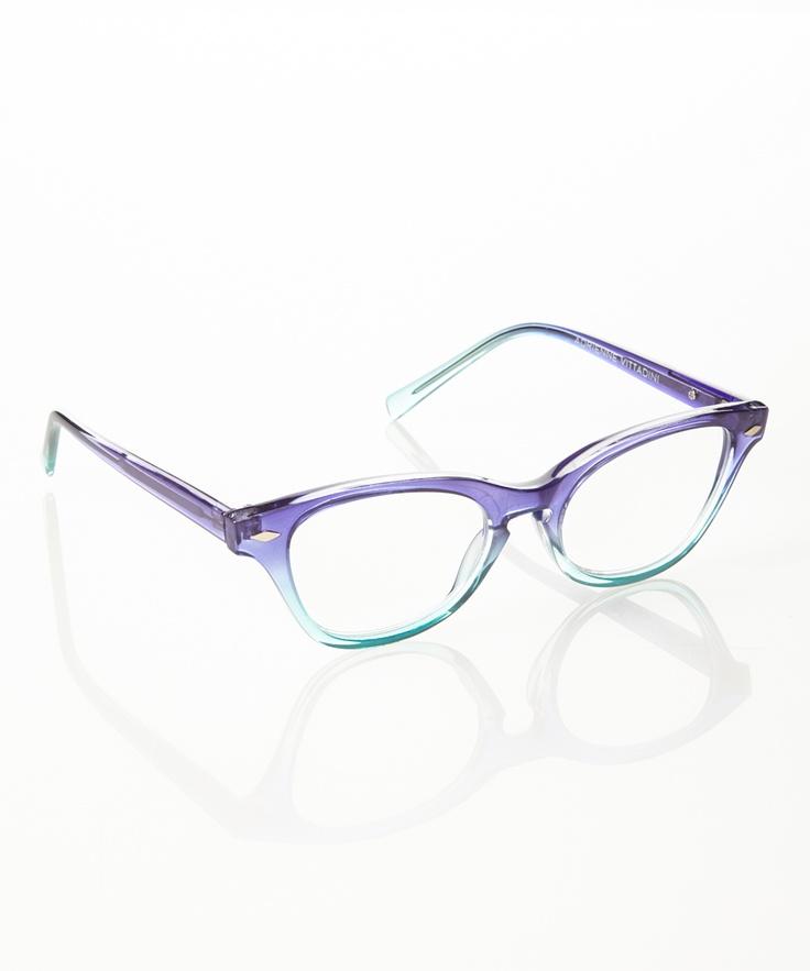 Royal Blue Glasses Frames : Royal & Blue Crystal Cat-Eye Eyeglasses