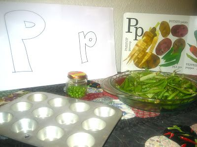 Eating the Alphabet from A-Z by Lois Ehlert is a great book. We loved including it in a fun pea-shelling activity.
