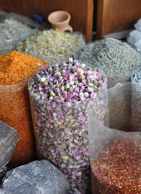Spices, herbs and dried rose petals ...amazing for cooking