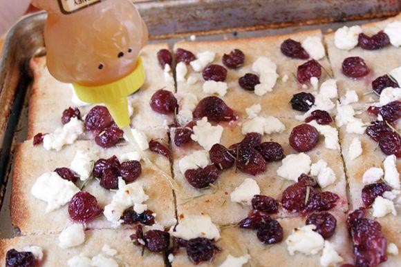 Roasted Grape, Chevre & Honey Flatbread | Recipe