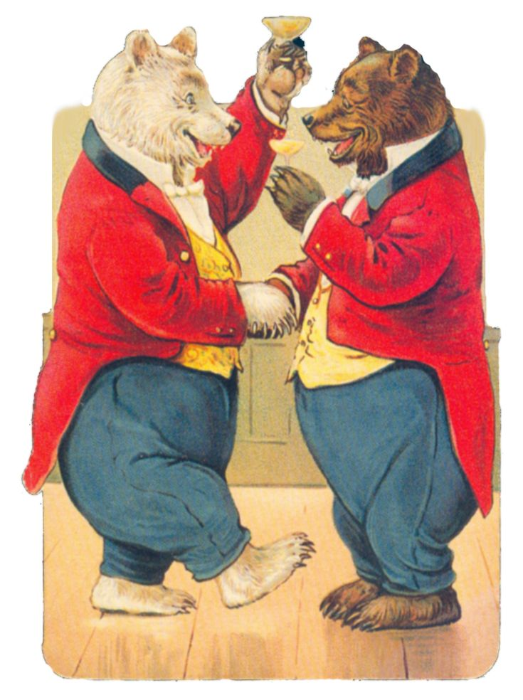 Vintage bears by jinifur on deviantART