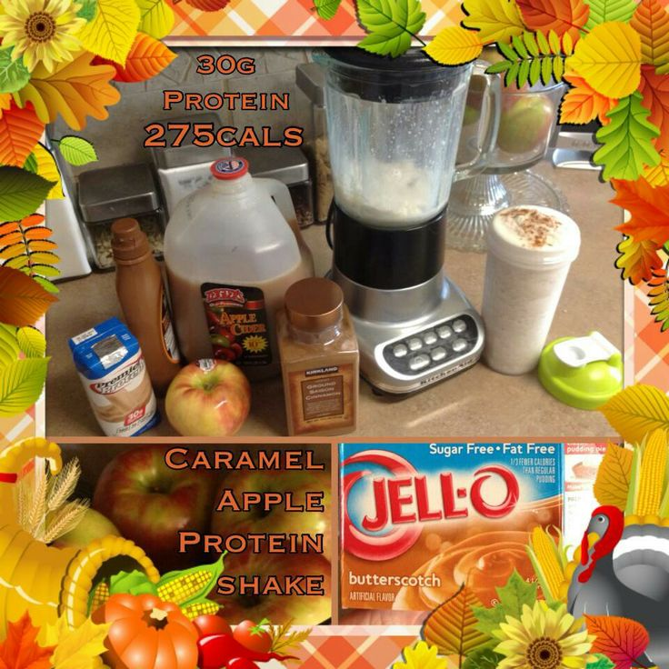Caramel Apple Protein Shake | Protein shakes | Pinterest