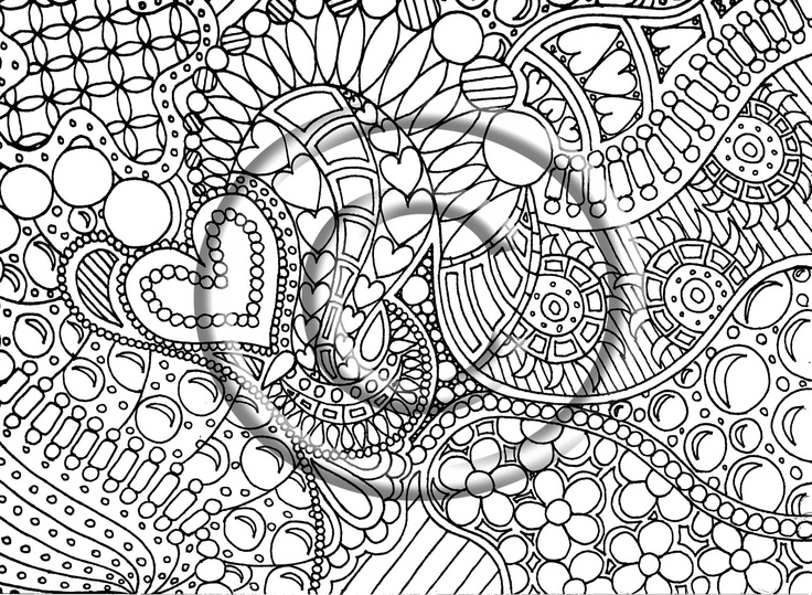 Disney Zentangle Coloring Pages : Zentangle free colouring pages