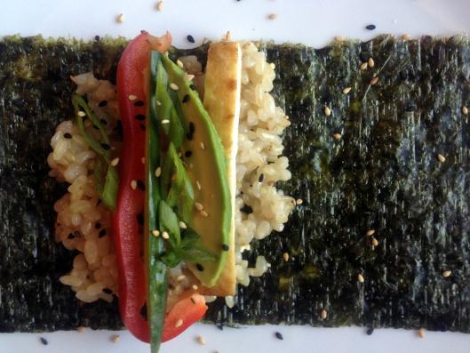Vegan Brown Rice Sushi Roll | New Healthy Living | Pinterest