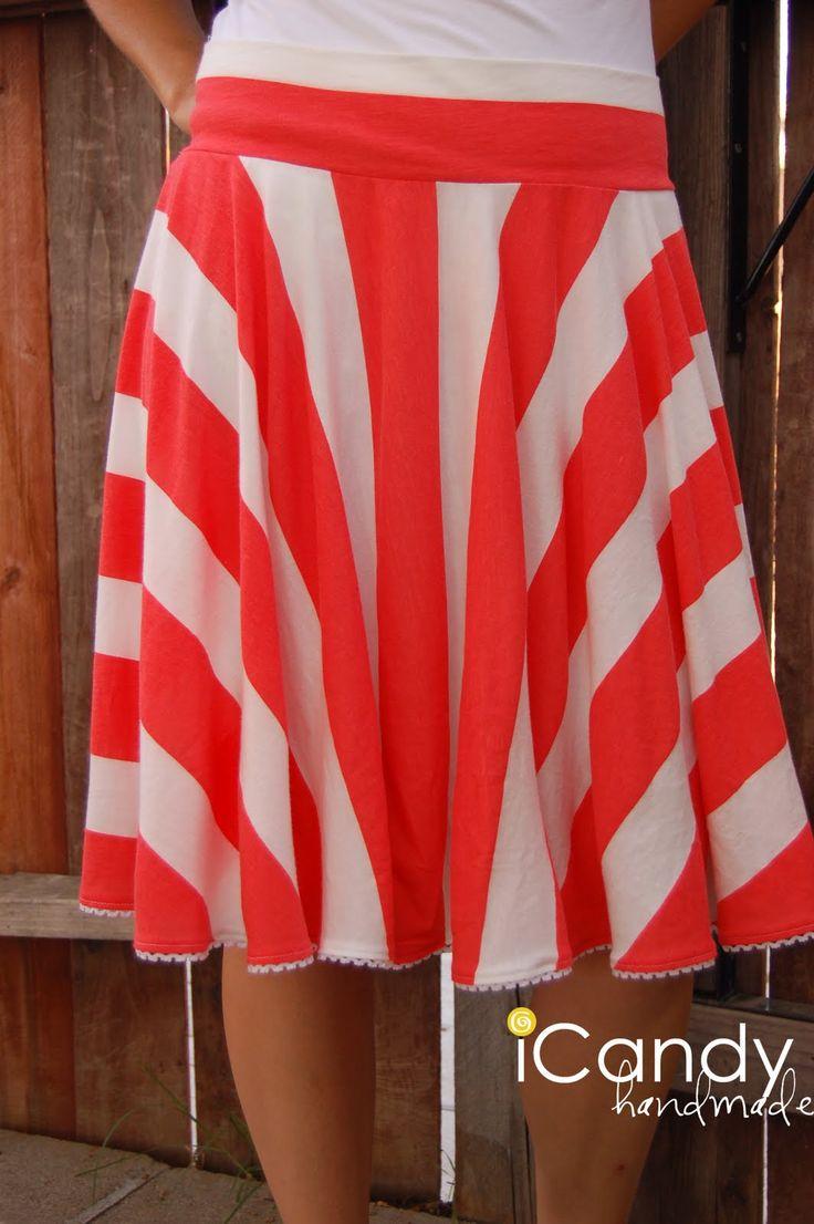 Jersey Knit Skirt Pattern : (tutorial) knit circle skirt Sewing clothes Pinterest
