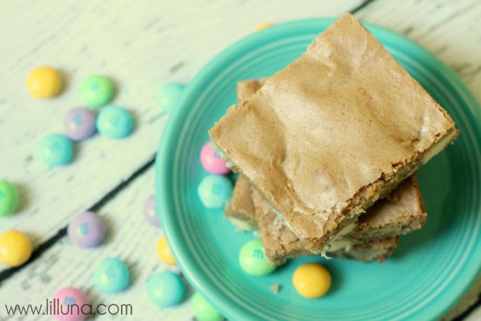white chocolate m amp m cookie bars