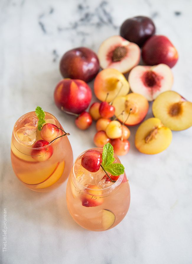 Stone Fruit Sangria | The Little Epicurean