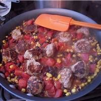 Clean Eating - Southwest Meatball Skillet - looks yummy!
