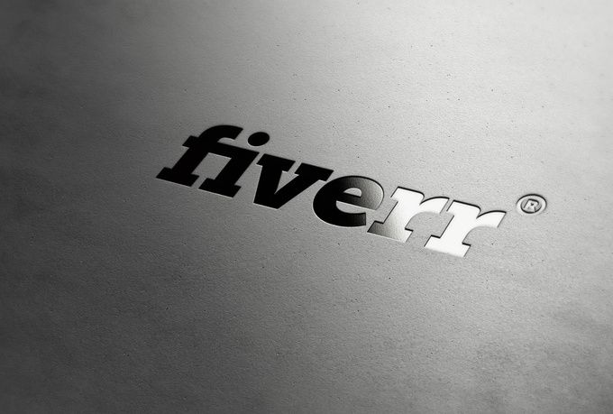 Fiverr embossed logo! Sweet. : Great Design : Pinterest