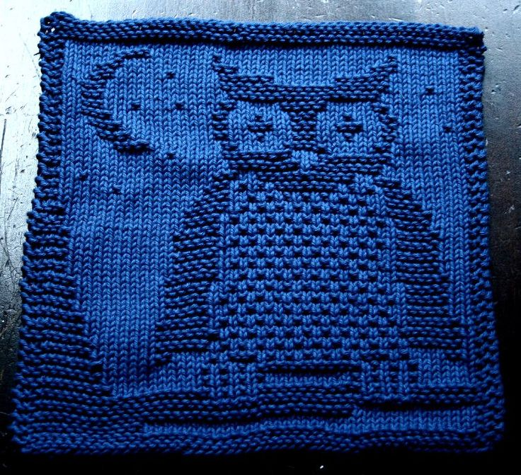 Dishcloth Patterns Knit : Owl dishcloth Knit Dish Rags Pinterest