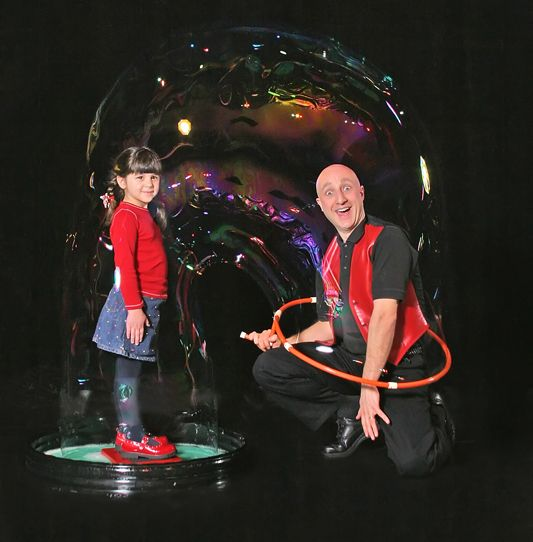 Friday, August 1 -  BubbleMania: Comedy with a Drip! with Casey Carle. Lots of comedy, some jazzy music, and superior bubbling make this one-man show a hit with the whole family.