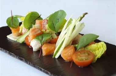 Cured Salmon with Crayfish, Fennel and Asparagus — Lovefood