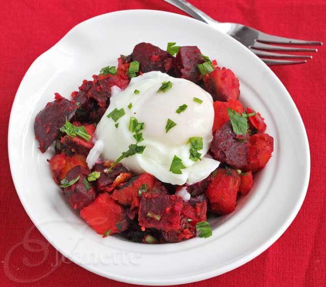 Roasted Beet and Sweet Potato Hash Recipe - #Unprocessed Breakfast Fo ...