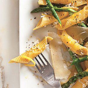 Garganelli with Asparagus and Pecorino Cheese | MyRecipes.com