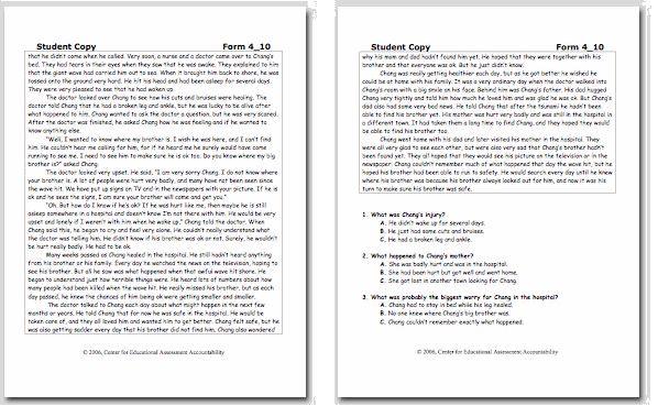 easyCBM.com - R... Easycbm Reading Fluency