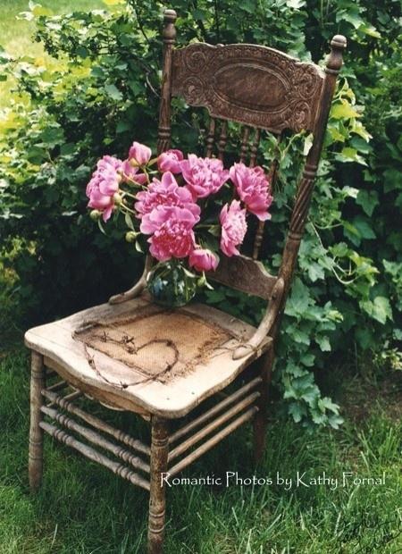 shabby chic vintage garden chair garden stuff pinterest. Black Bedroom Furniture Sets. Home Design Ideas