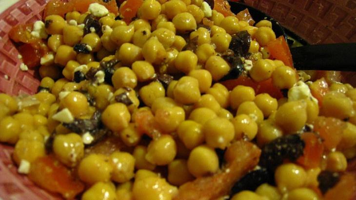 Greek Garbanzo Bean Salad | SALAD RECIPES | Pinterest