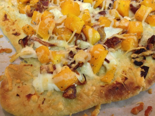 Caramelized Onion, Goat Cheese and Butternut Squash Flatbread. Yes, it ...