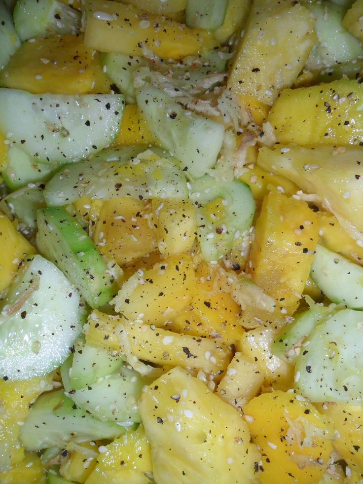 Pineapple, Mango, And Meyer Lemon Salad Recipe — Dishmaps