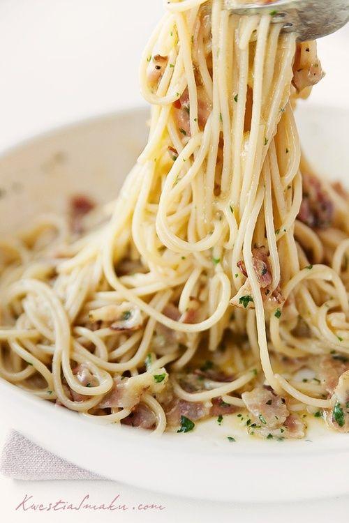 Spaghetti alla carbonara. | Food | Pinterest
