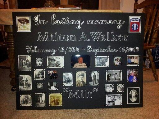 Memorial poster board