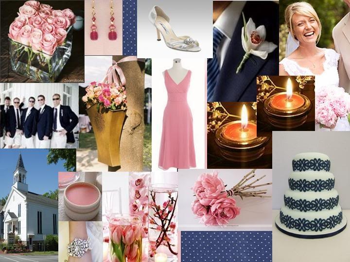 Wedding Decorations Blue And Pink : Navy blue and light pink wedding